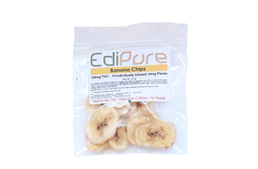 Banana Chips 100mg THC (10 x 25mg): $13 (EDIBLES